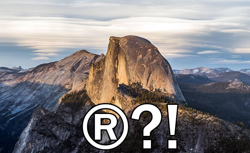 Yosemite-is-trademarked